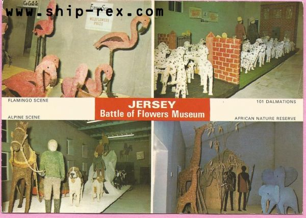 Jersey Battle Of Flowers Museum - multiview postcard (a)